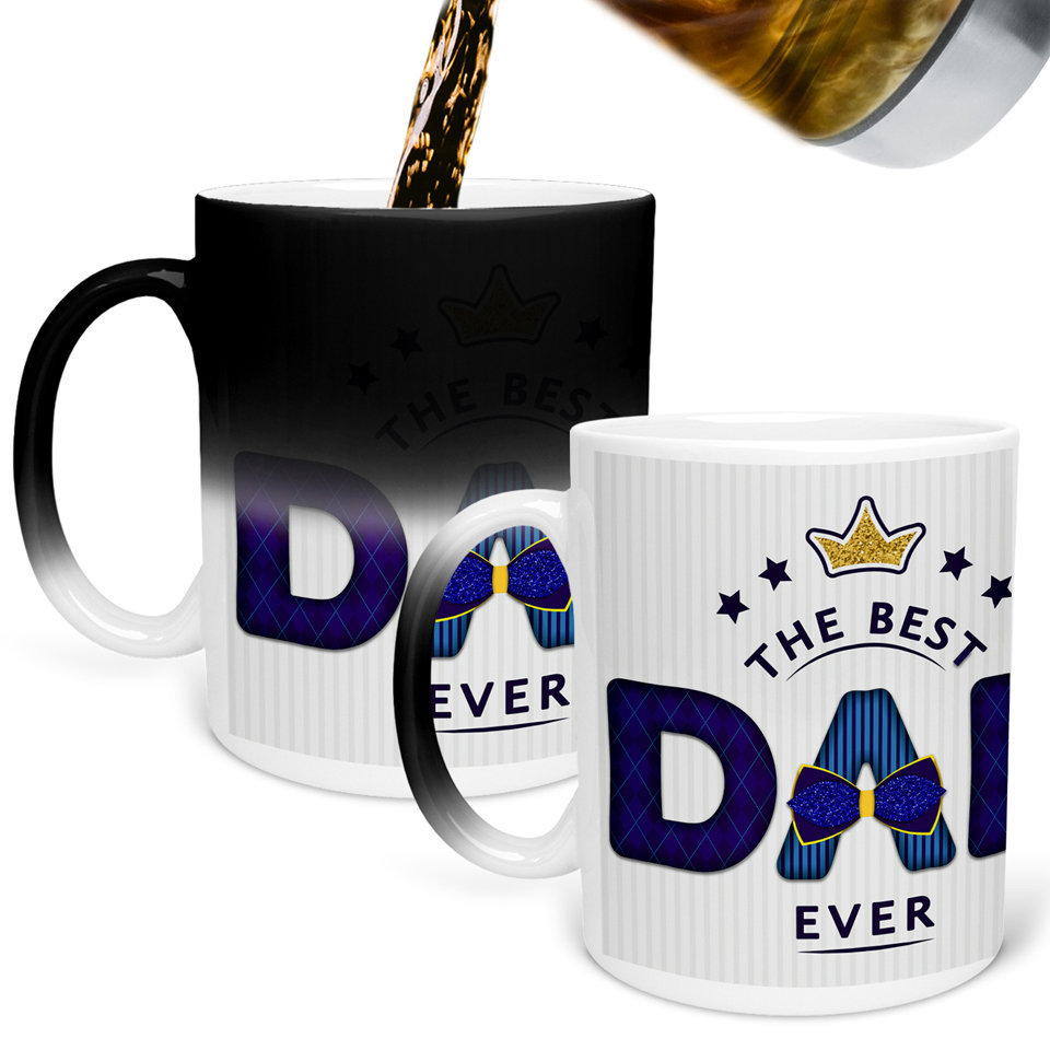 Printed Ceramic Coffee Mug | For Loved Ones | The Best Dad Ever   | 325 Ml…