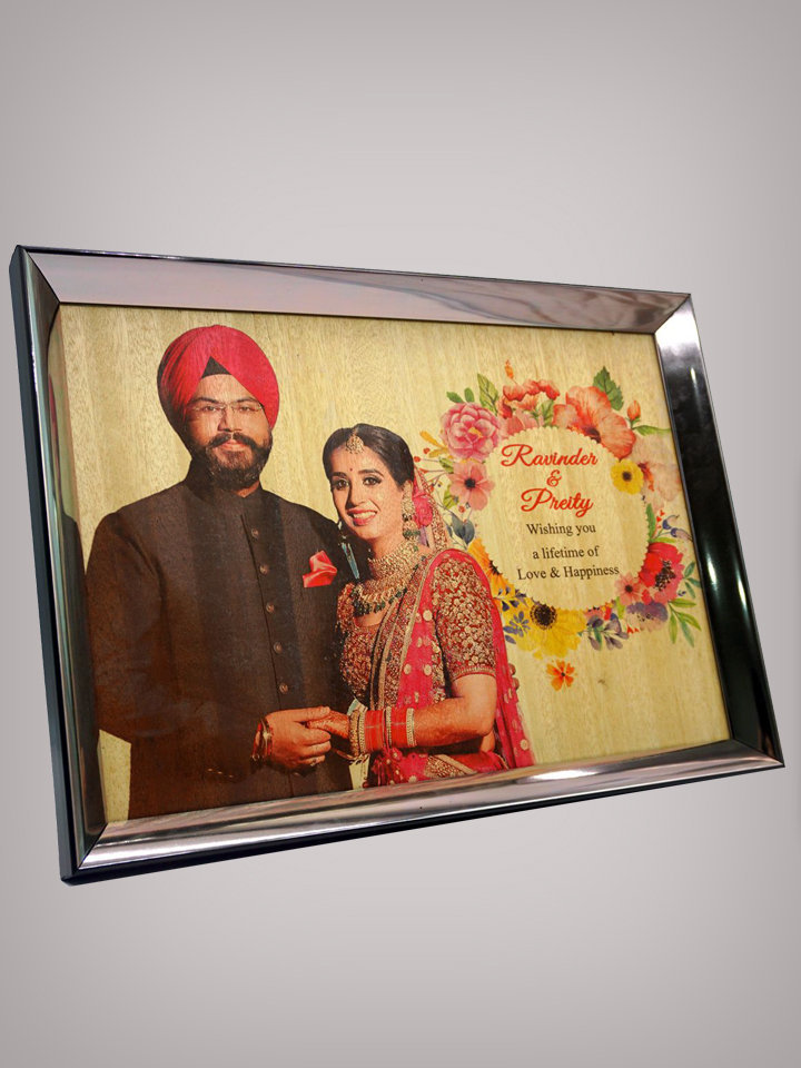 Multicoloured Printed Wooden Photo Frame PWPF A3