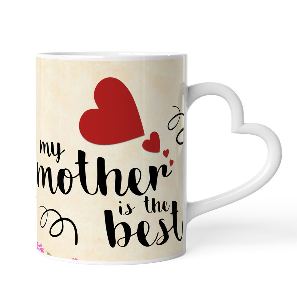 Printed Ceramic Coffee Mug | For Loved Ones | My Mother is the Best | 325 Ml.