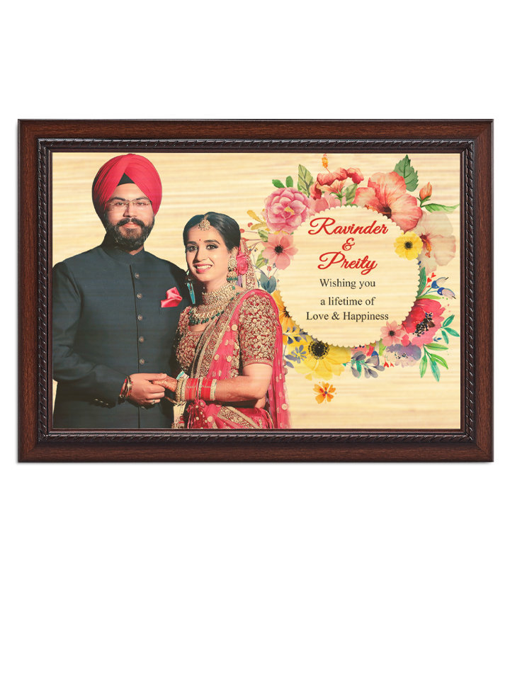 Multicoloured Printed Wooden Photo Frame WPF 1813