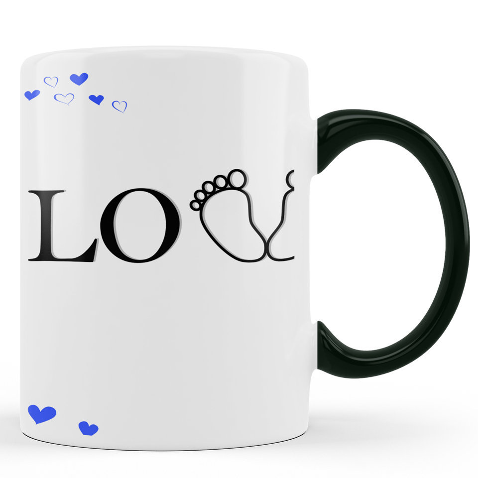 Printed Ceramic Coffee Mug | For Loved Ones | Love You Dad | 325 Ml.