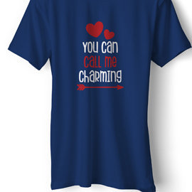 You Can Call Me Charming | T Shirt For Her  | Unisex Cotton T Shirt | Round Neck Regular Fit