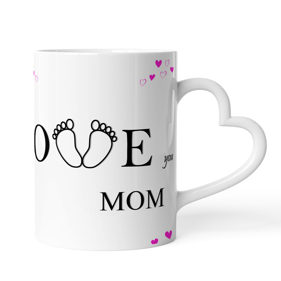 Printed Ceramic Coffee Mug | For Loved Ones | Love You Mom  | 325 Ml…