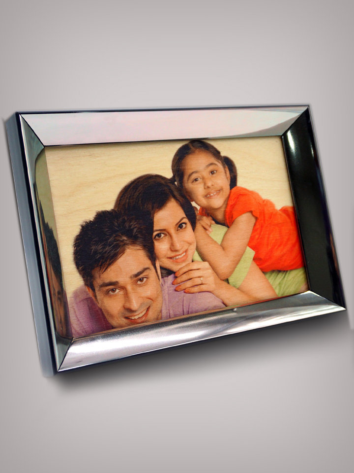 Multicoloured Printed Wooden Photo Frame PWPF 96