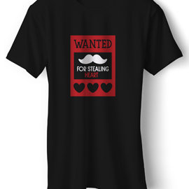 Wanted | T Shirt For Her | Unisex Cotton T Shirt | Round Neck Regular Fit