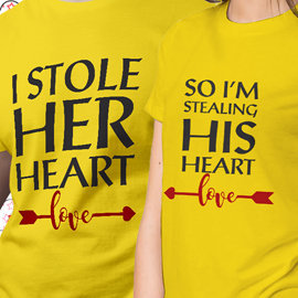 Stole Hearts Couple T-Shirts