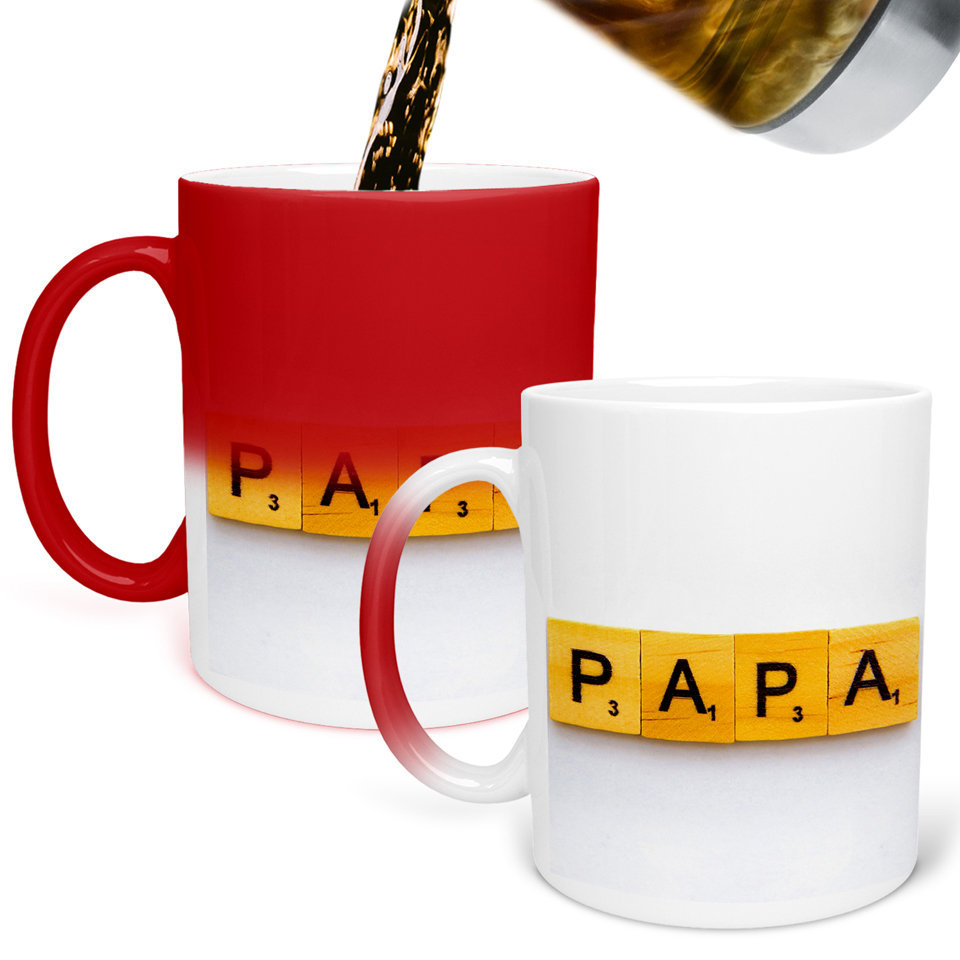 Printed Ceramic Coffee Mug | For Loved Ones | PAPA  Love for Father  | 325 Ml.