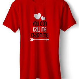 You Can Call Me Charming | T Shirt For Him | Unisex Cotton T Shirt | Round Neck Regular Fit