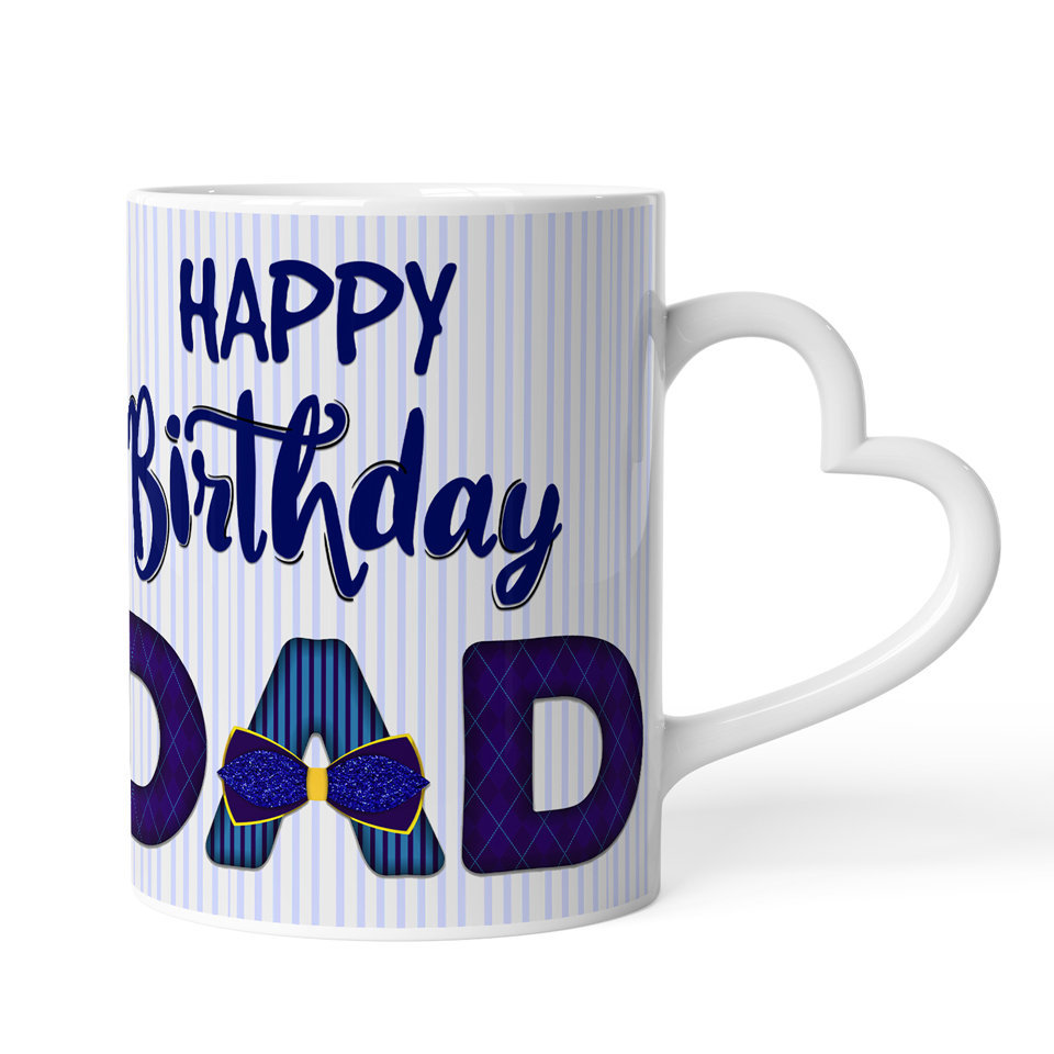 Printed Ceramic Coffee Mug | For Loved Ones | Happy Birthday Dad  | 325 Ml…