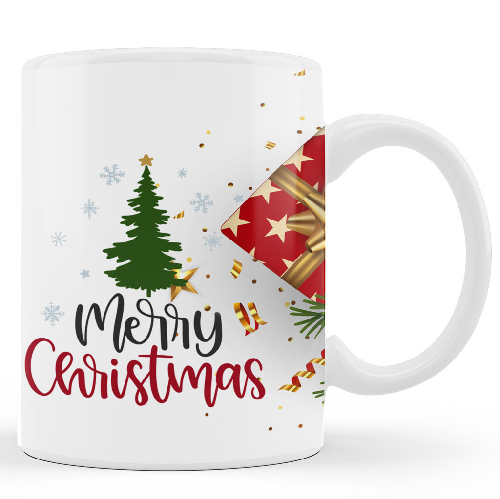 Personalised Printed Ceramic Coffee Mug | Merry Christmas |Merry Christmas Day Mug | 325