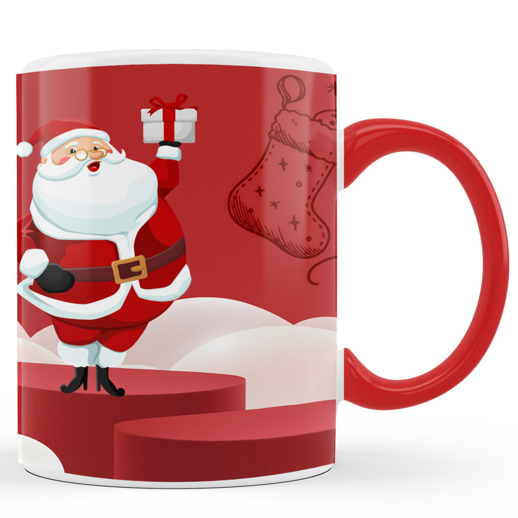 Personalised Printed Ceramic Coffee Mug | Christmas Gifts |Merry Christmas Day Mug | 325 Ml