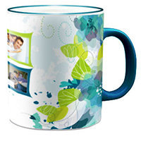 Mug Blue Handle Rs 350