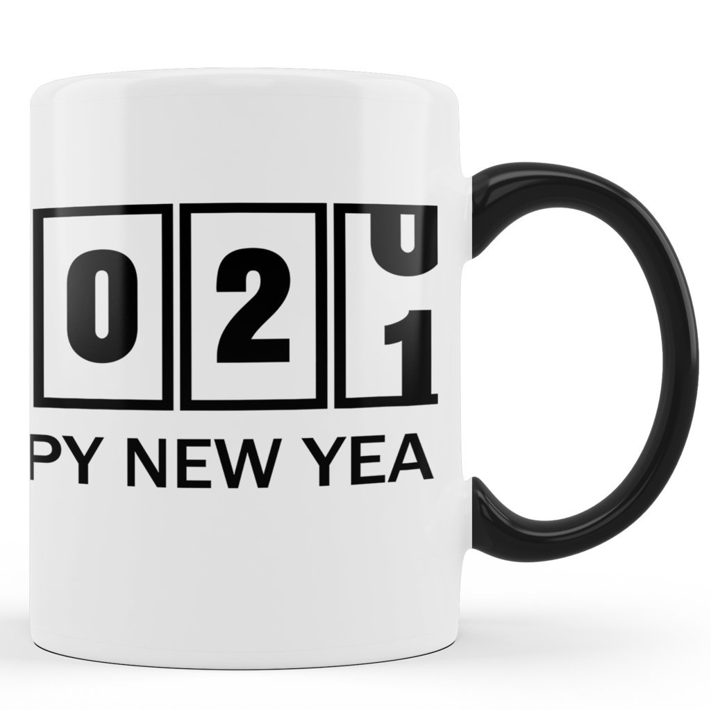 Printed Ceramic Coffee Mug | 2021 Count Down |Happy New Year 2021 Mug | 325 Ml