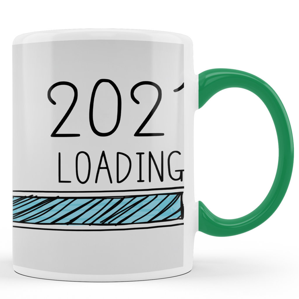 Printed Ceramic Coffee Mug | 2021 Loading |Happy New Year 2021 Mug | 325 Ml