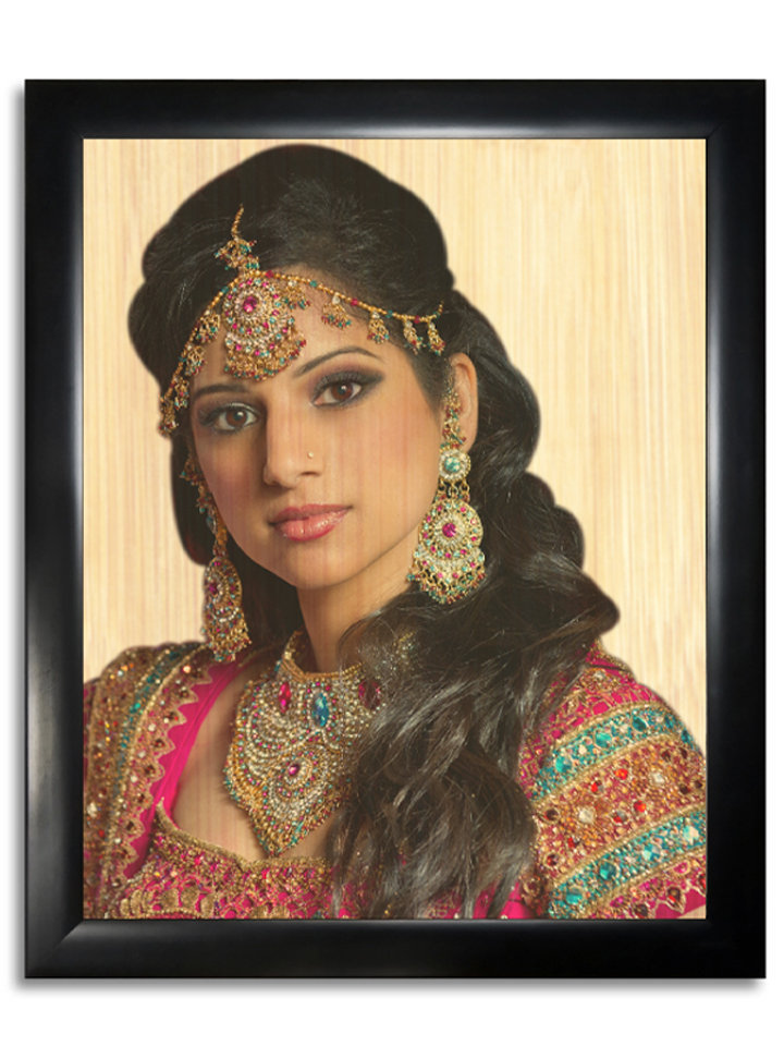 Multicoloured Printed Wooden Photo Frame WPF119