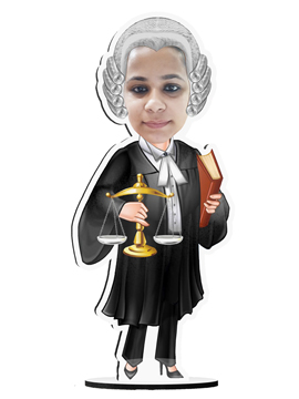 Personalised Caricatures Female Advocate