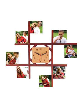 One large Size pictture walll clock to hold eight different pictures to create a Story
