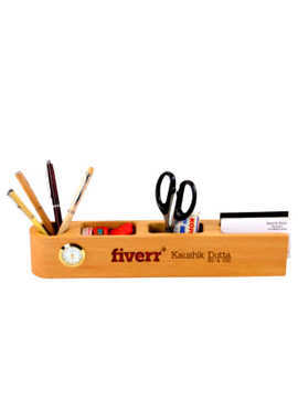 Wooden Name Bar With Desk Assistant Slot