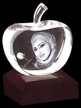 Personalised 3D Photo Crystal (Apple L)