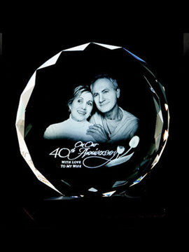 Personalised 3D Photo Crystal (Tyb01B)