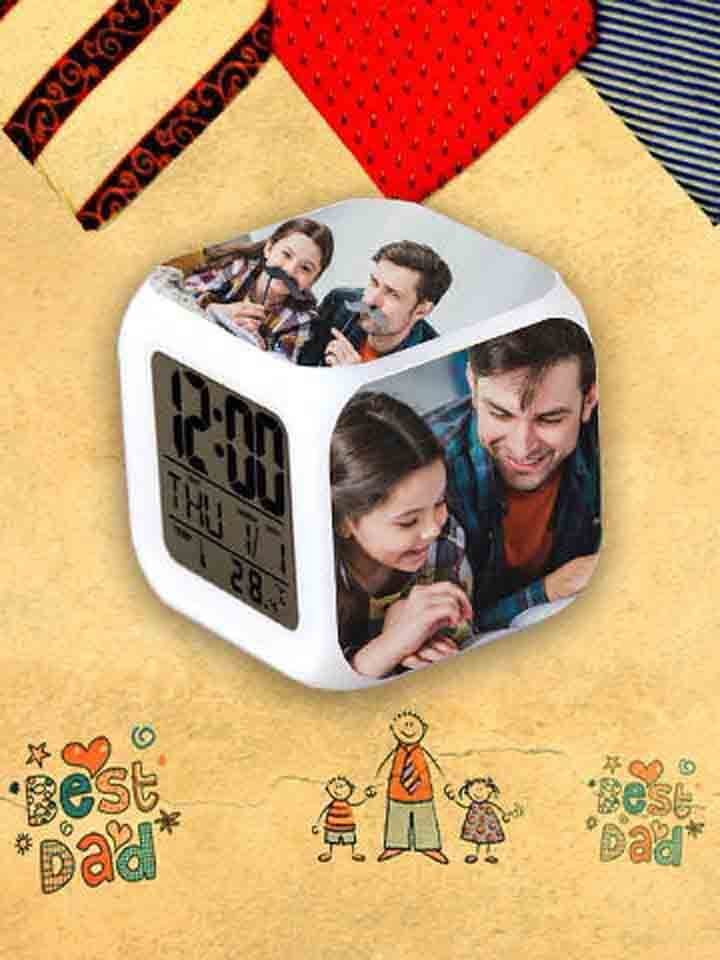 Alarm Clock Personalised for Fathers Day
