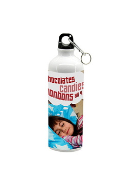 Personalised Metal Sipper Bottle.