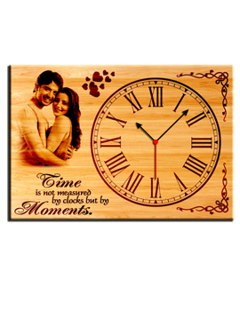 Personalised Clock With Photo Frame (WEC-1)