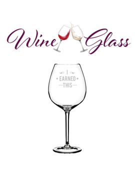 Personalised Sand Carved Wine Glass Small
