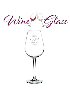 Personalised Sand Carved Wine Glass Big