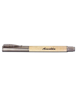 Personalised Roller  Wooden Engraved Pen (1001)