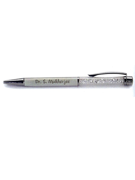 Personalised Ball Point Engraved Metal Pen  (FLP-003)