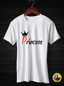 Princess Round Neck Half Sleeves Cotton Tshirt