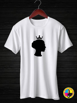 Queen Round Neck Half Sleeves Cotton Tshirt