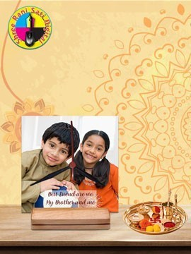 Personalised Photo Frame With Clock (HBC-44)