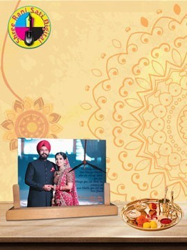 Personalised Photo Frame With Clock (HBC-86)