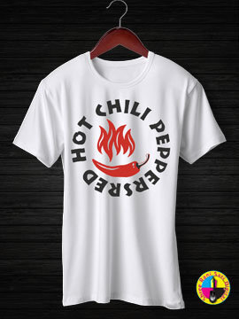 Red Hot Chilly Peppers Round Neck Half Sleeves Cotton Tshirt