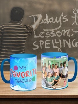 Teachers Day Blue Mug