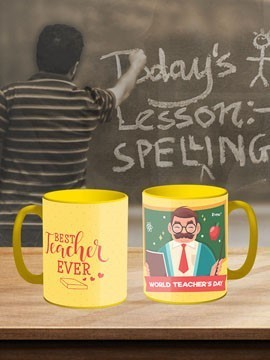 TeacherS Day Yellow Coffee Mug