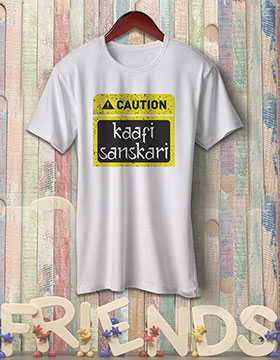Caution Kaafi Sanskari - White
