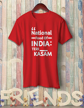 National Food Of India Teri Kasam - Red