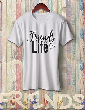 Friends For Life - White