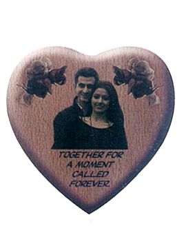 Personalised Heart Shape Wooden   Plaque (1089sm)