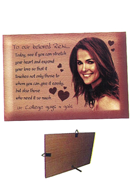 Personalised Laser Engraved  Wooden   Plaque (1035SM)