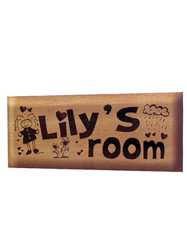 Personalised Laser Engrave Wooden Name Plate (1039SM)