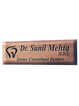 Personalised Laser Engrave Wooden Name Plate (1040SM)