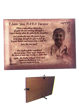 Personalised Laser Engraved Wooden  Plaque (1041SM)