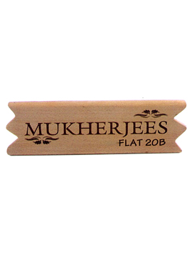 Personalised Laser Engrave Wooden Name Plate (1047SM)
