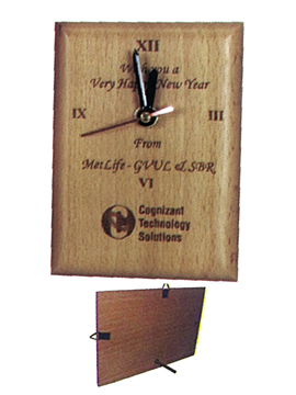 Personalised Laser Engraved Wooden Clock