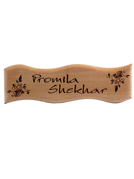 Personalised Laser Engrave Wooden Name Plate (1048SM)
