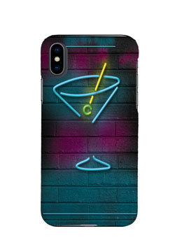 Neon Pub Logo Mobile Cover